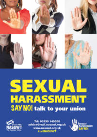 Sexual harassment say no poster 4