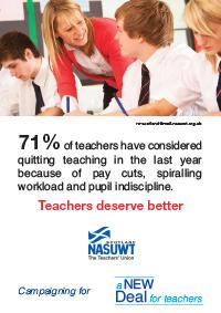 New Deal for Scotland Campaign - Teachers Deserve Better